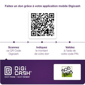 Faites un don grâce à votre application mobile Digicash