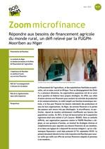 Répondre aux besoins de financement agricole du monde rural, un défi relevé par la FUGPN-Mooriben au Niger