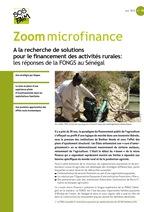 A la recherche de solutions pour le financement des activités rurales: les réponses de la FONGS au Sénégal
