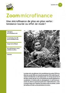 Une microfinance de plus en plus verte : tendance lourde ou effet de mode ?