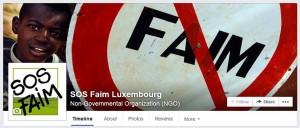 SOS Faim sur Facebook et LinkedIn. Rejoignez-nous!