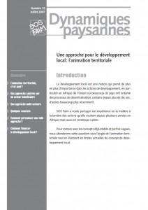 Une approche pour le développement local : l'animation territoriale