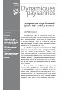 Les organisations interprofessionnelles agricoles (OIP) en Afrique de l'Ouest