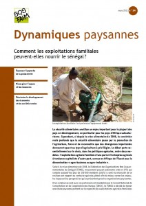 Comment les exploitations familiales peuvent-elles nourrir le Sénégal ?