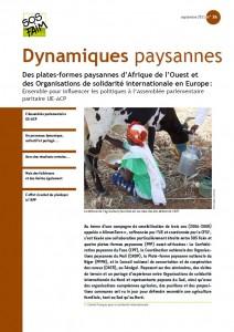 Des plates-formes paysannes d'Afrique de l'Ouest et des Organisations de solidarité internationale en Europe : Ensemble pour influencer les politiques à l'Assemblée parlementaire paritaire UE-ACP