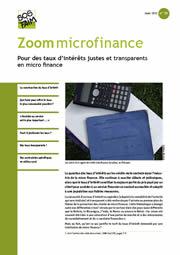 Pour des taux d'intérêts justes et transparents en micro finance
