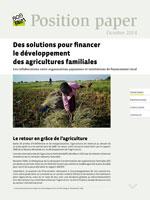 Des solutions pour financer  le développement  des agricultures familiales