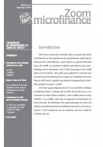 Expériences de microfinance en zones de conflit