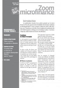 Microfinance et extrême pauvreté