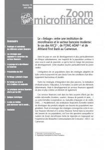 Le « linkage » entre une institution de microfinance et le secteur bancaire moderne : le cas des MC2 , de l'ONG ADAF(2) et de Afriland First Bank au Cameroun.