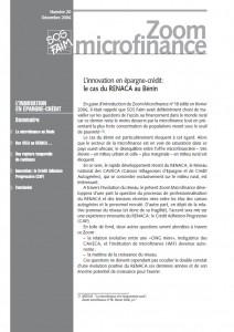 L'innovation en épargne-crédit : le cas du RENACA au Bénin
