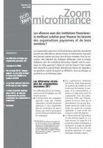 Les alliances avec des institutions financières : la meilleure solution pour financer les besoins des organisations paysannes et de leurs membres ?