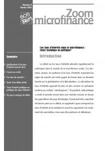 Les taux d'intérêt dans la microfinance : choix technique ou politique ?