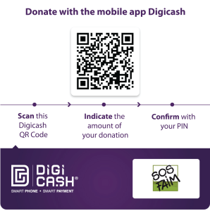 New! Send in your donations with your mobile Digicash-app!
