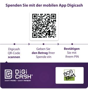 Neu ! Spenden Sie mit Hilfe von Digicash