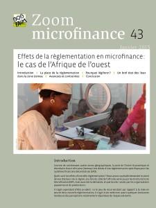 Effets de la règlementation en microfinance : le cas de l'Afrique de l'ouest