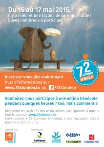 """SOS Faim beteiligt sich an den """"72 Stonnen Bénévolat 2015"""" organisiert von der Agence du Bénévolat"""