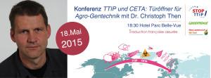 Konferenz – TTIP und CETA: Türöffner für Agro-Gentechnik