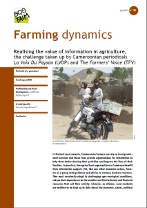 Realising the value of information in agriculture, the challenge taken up by Cameroonian periodicals La Voix Du Paysan (LVDP) and The Farmers' Voice (TFV)