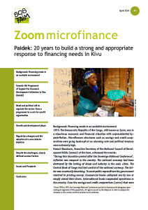 Paidek: 20 years to build a strong and appropriate response to financing needs in Kivu