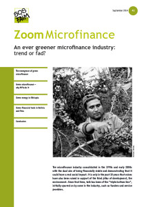 An ever greener microfinance industry: trend or fad?