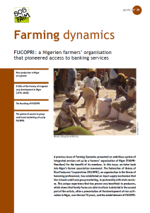 FUCOPRI : a Nigerien farmers' organisation that pioneered access to banking services