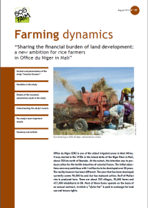 """Sharing the financial burden of land development: a new ambition for rice farmers in Office du Niger in Mali"""