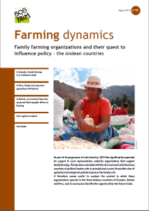 Family farming organizations and their quest to influence policy – the Andean countries