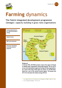 The Fatick integrated development programme (Senegal): capacity building in grass roots organisations