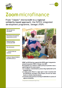 "From ""classic"" microcredit to a regional solidarity-based approach: the FATICK integrated development programme, Senegal (FIDP)"