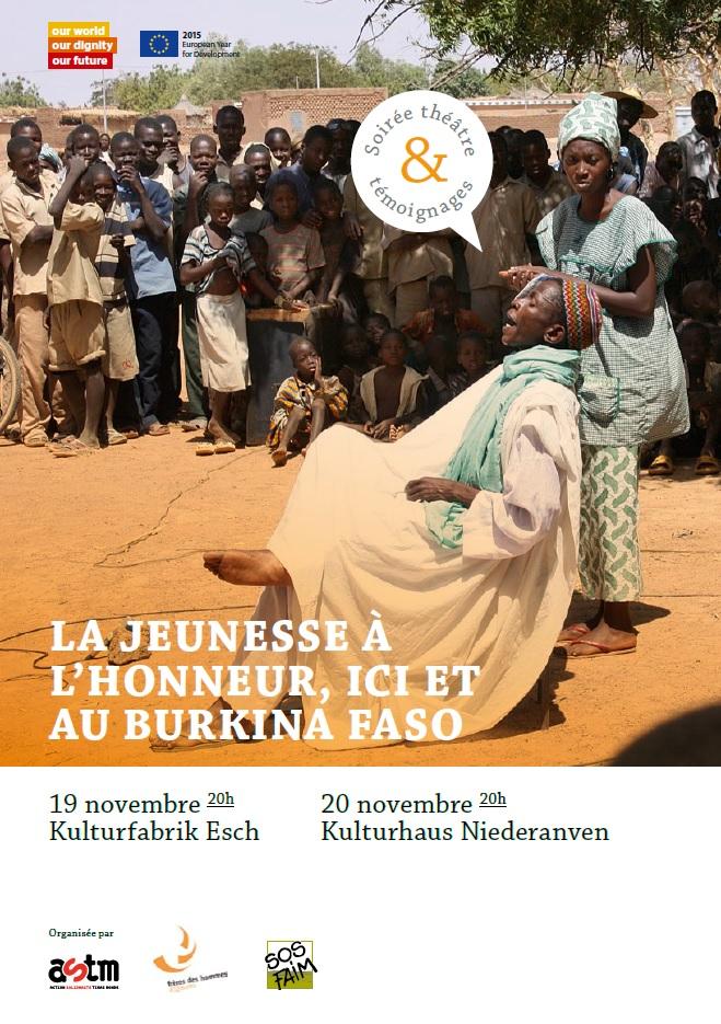 La jeunesse à l'honneur, ici et au Burkina Faso – soirée théâtre et témoignages