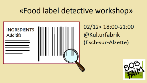 Food label detective workshop