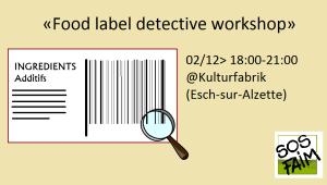 Food label detective workshop