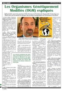 Les Organismes Génétiquement Modifiés (OGM) expliqués