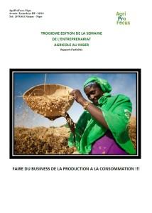 Troisième Édition de la Semaine de l'Entreprenariat Agricole au Niger