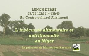 Lunch-débat: Lutte contre l'insécurité alimentaire et la malnutrition au Niger: où en est-on ?