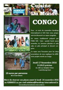Cuisine du monde spéciale République Démocratique du Congo