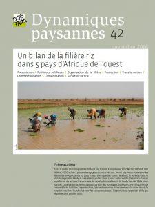 Un bilan de la filière riz dans 5 pays d'Afrique de l'ouest