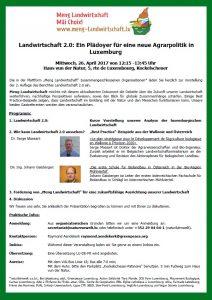 Landwirtschaft 2.0: Ein Plädoyer für eine neue Agrarpolitik in Luxemburg
