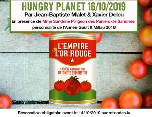 16/10 : soirée HUNGRY PLANET – L'empire de l'or rouge