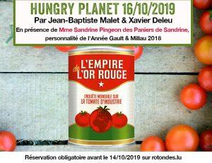 16/10 : soirée HUNGRY PLANET – L'empire de l'or rouge