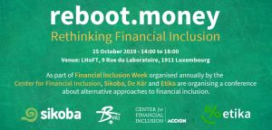 25/10 SOS Faim, invitée de Rethinking financial inclusion