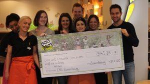 Les clients de EXKi Luxembourg font preuve de générosité dans le cadre de l'opération déjeuners solidaires !