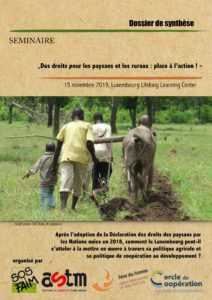 « Des droits pour les paysans et les ruraux : place à l'action! » – Dossier de synthèse